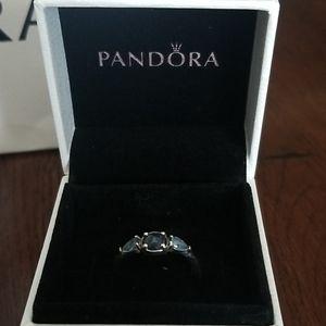 Pandora 3 stone ring size 6